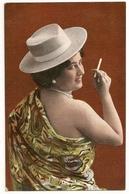 341 - Jeune Dame- Chapeau Blanc (4 Cartes) - Frauen