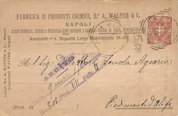 """6963 """" FABBRICA DI PRODOTTI CHIMICI D.r A. WALTER & C.-NAPOLI """"-CART. POST. ORIG.  SPEDITA 1900 - Non Classificati"""