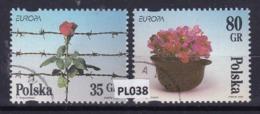 "Polonia 1995: Serie Di 2 Valori Usati ""Europa. Pace E Libertà"" - 1944-.... Repubblica"