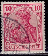 Germany, 1902, Germania, 10pf, Sc#68, Used - Used Stamps