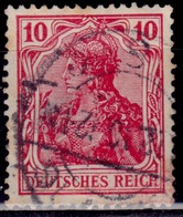 Germany, 1905-19, Germania, 10pf, Sc#83, Used - Used Stamps