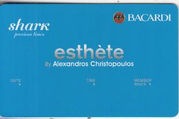GREECE - Shark(Bacardi), Esthete Member Card, Unused - Autres Collections