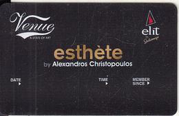 GREECE - Venue(Elit), Esthete Member Card, Unused - Altri