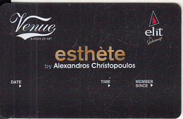 GREECE - Venue(Elit), Esthete Member Card, Unused - Autres Collections