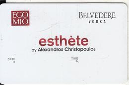 GREECE - Egomio(Belvedere Vodka), Esthete Member Card, Unused - Altri