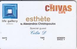 GREECE - Life Gallery(Chivas), Esthete Member Card, Unused - Autres Collections