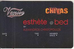 GREECE - Venue(Chivas), Esthete Member Card, Unused - Autres Collections
