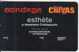 GREECE - Bondage(Chivas), Esthete Member Card, Unused - Altri