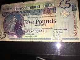 See Photos. Ireland 1998 Bank Of Ireland 5 Pounds Note Queen's University Of Belfast I - Ireland