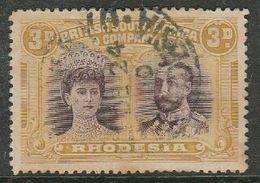 Rhodesia / B.S.A.Co.,GVR Double Head, 1910 - 1913, 6d, Perf 14, Magenta & Yellow-ochre, C.d.s. Used - Rhodesia Del Sud (...-1964)