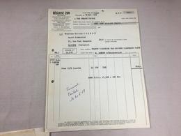 Authentique Et Ancienne Facture Vintage Réglisse ZAN Marseille Année 50/60 Old Invoice - Factures