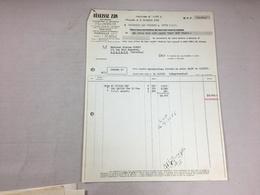 Authentique Et Ancienne Facture Vintage Réglisse ZAN Marseille Année 50/60 Old Invoice - Facturas