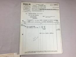 Authentique Et Ancienne Facture Vintage Réglisse ZAN Marseille Année 50/60 Old Invoice - Facturen