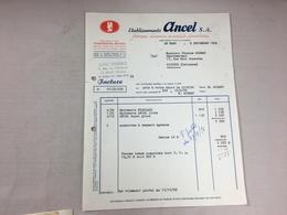 Authentique Et Ancienne Facture Vintage Etablissements ANCEL SA Année 50/60 Old Invoice - Factures