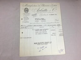 Authentique Et Ancienne Facture Vintage Manufacture De Chicorée Extra Arlatte Cambrai Année 50/60 Old Invoice - Facturas