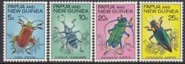 PAPUA NEW GUINEA, 1967 BEETLES 4 MNH - Papúa Nueva Guinea