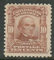 U.S.A., 1903, 10 Cents Pale Red-brown,  Webster, MH * - United States