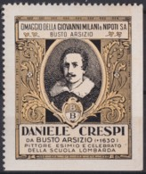 F-EX17440 ITALY ITALIA CINDERELLA 1930 BUSTO ARSIZIO DANIELE CRESPI 45x55 Mm ORIGINAL GUM - Italie
