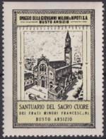 F-EX17445 ITALY ITALIA CINDERELLA 1930 BUSTO ARSIZIO SACRO CUORE 40x53 Mm ORIGINAL GUM - Italie