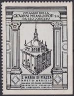 F-EX17455 ITALY ITALIA CINDERELLA 1930 BUSTO ARSIZIO S MARI PIAZZA CHURCH 40x53 Mm ORIGINAL GUM - Italie