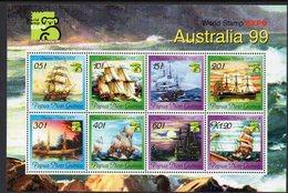 PAPUA NEW GUINEA, 1999 AUSTRALIA99 SHIPS MINISHEET MNH - Papua Nuova Guinea