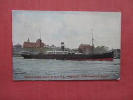"Messrs James Currie & Co   ""Vienna"" Leith Hamburg Steamer Stamp & Cancel        Ref 3946 - Paquebots"
