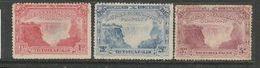 Rhodesia / B.S.A.Co., 1905 Victoria Falls, 1d, 2 1/2d, 5d, Unused, No Gum, No Cancels - Southern Rhodesia (...-1964)