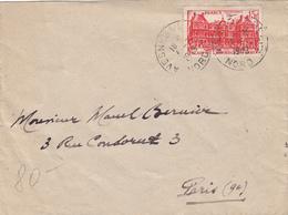 NORD ENV 1949 AVESNES SUR HELPE SUR 15F LUXEMBOURG SEUL SUR LETTRE - 1921-1960: Periodo Moderno