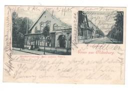Ansichtskarte ,  Gruss Aus Oldenburg , Waldschlösschen Und Lindenstrasse , 1903 - Oldenburg