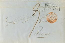 1851 Berlin Stadtpost-Exp. Transit Bf Champagner-Best.n.Reims - Germania