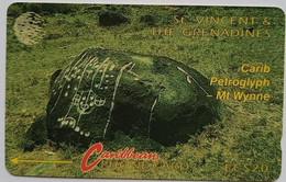 8CSVC Carib Petroglyph EC$20 - St. Vincent & The Grenadines