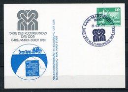 DDR Ganzsache Tage Des Kulturbundes Karl-Marx-Stadt 1981   (B466) - [6] Oost-Duitsland