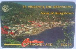 13CSVB EC$10 View Of Kingston - St. Vincent & The Grenadines