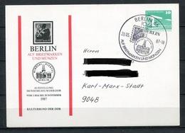 DDR Ganzsache Ausstellung Im Postmuseum Berlin 1987   (B467) - [6] Oost-Duitsland