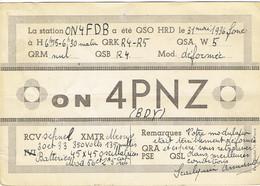 Très Ancienne QSL De ON4 PNZ, Armand Scailquin, Haine-Saint-Paul (31 Mai 1936) - Radio Amateur