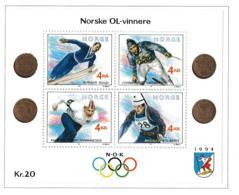 Norway 1994 Olympic Games Lillehammer  - Former Norwegian Gold Medal Winners Souvenir Sheet  MNH/** (H44) - Winter 1994: Lillehammer