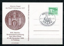 DDR Bezirks-Briefmarkenausstellung K.M.Stadt In Freiberg 1982 (B488) Sonderstempel - [6] Oost-Duitsland