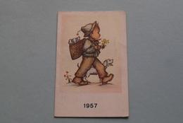 Publi / Reclame : Fabriek DE INDIAAN / Firma Ch. Leysen-Goosens TURNHOUT ( Kalender 1957  > Zie Foto's ) ! - Calendarios