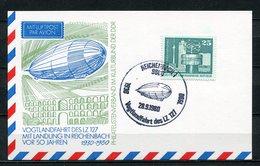 DDR Luftpost Vogtlandfahrt Des LZ 127 1980 (B490) Sonderstempel Reichenbach - [6] Oost-Duitsland