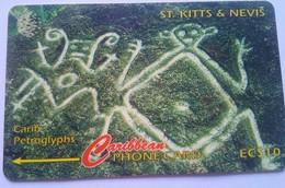 166CSKA Carib Petroglyphs EC$10 - St. Kitts & Nevis