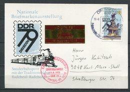 DDR Nationale Briefmarkenausstellung Sonderbahnpost 1979 (B493) Sonderstempel - [6] Oost-Duitsland