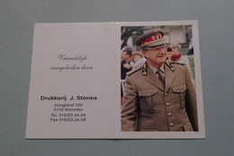 Publi / Reclame : Drukkerij J. STORMS Werchter ( Onderwerp KONINGSHUIS ) ( Kalender 1995 > Zie Foto's ) ! - Kalender