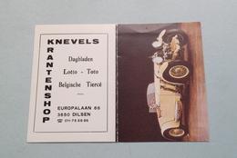 Publi / Reclame : Krantenshop KNEVELS Dilsen ( Onderwerp AUTO ) ( Kalender 1985 > Zie Foto's ) ! - Calendars