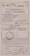 CARTA CARBURANTE 1956 Pour Un Français De FAUVILLE EN CAUX 76 - Cartes