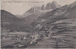 CAMPITELLO - VAL DI FASSA  (TRENTO)  -  VERSO IL SASSOLUNGO - VIAGGIATA - Trento
