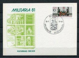 DDR Ganzsache Militaria Berlin Sonderstempel Briefmarken 1981  (B503) - [6] Oost-Duitsland