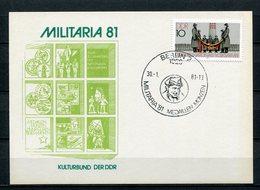 DDR Ganzsache Militaria Berlin Sonderstempel Medaillen Und Münzen 1981  (B504) - [6] Oost-Duitsland