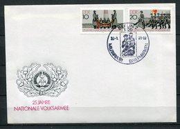 DDR Militaria Berlin Sonderstempel Briefmarken 1981  (B505) 2580/1 - Privatumschläge - Gebraucht