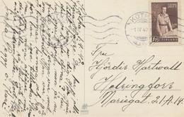 Finnland: 1942: Glückwunschkarte Von Kotka - Finlandia