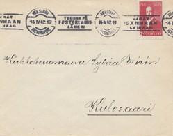 Finnland: 1942: Brief Von Helsinki Nach Kulosaari - Finlandia